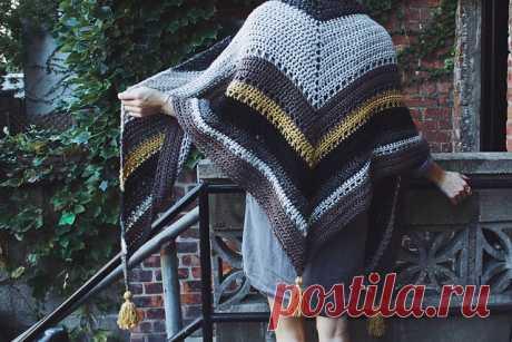 [Free pattern] Crochet Tea House Wrap
