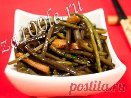 Косари-ча ( салат из папоротника) фото-видео рецепт
