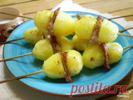 Картошка с салом на шпажках - пошаговый рецепт с фото на Повар.ру