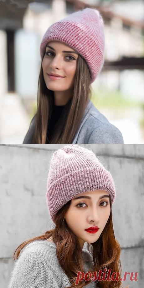 Новая простая Шапка бини из кроличьего меха для женщин Зимняя теплая шерстяная шапка Gorros женская шапка | вязание из остатков пряжи | beanie hats for women|fur beanie hatbeanie hat
