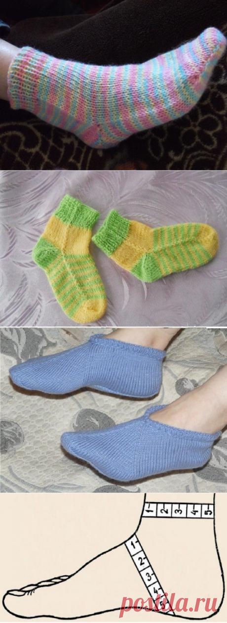 Как связать носки на двух спицах без шва: пошаговый мастер-класс с фото и видео