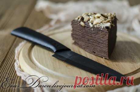 Шоколадный блинный торт (без яиц) - Кулинарное творчество