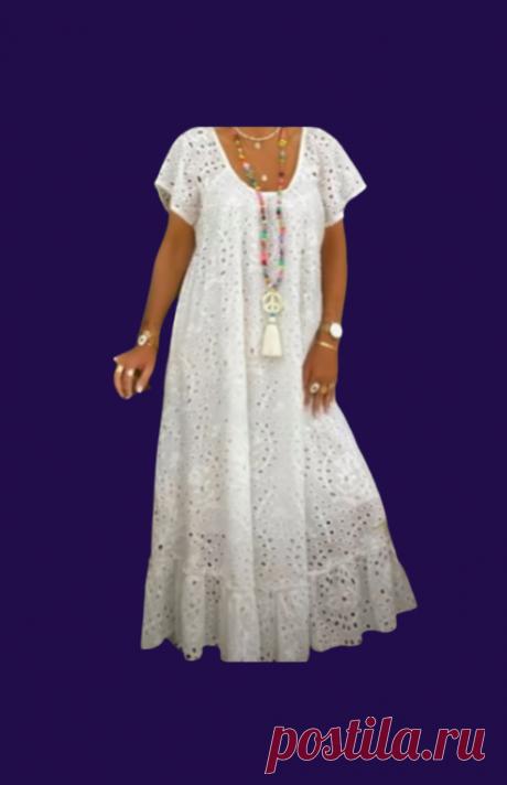 Шьем красивое летнее платье из гипюра с оборкой | Мир модной одежды | Яндекс Дзен