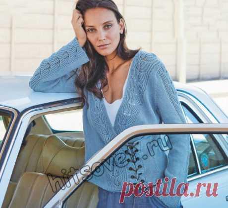 Модный пуловер с запахом - Хитсовет