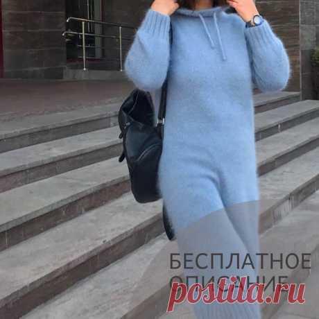 Платье с капюшоном  Источник: https://www.instagram.com/p/CGrAULAF_QB/  Для тех, кто хочет связать уютное худи, платье в спортивном стиле или очень актуальный капор. Ловите описание главного элемента этих моделей. Удобный капюшон с правильной анатомической посадкой.  Описание рассчитано на пряжу пух норка в две нити. На круговые спицы номер 3 набираем 256 +1 петля и замыкаем круг. Первую петлю протягиваем через последнюю, вешаем маркер начала ряда.  Далее вяжем полую...