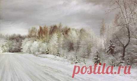 Зимние пейзажи от художника Романа Романова