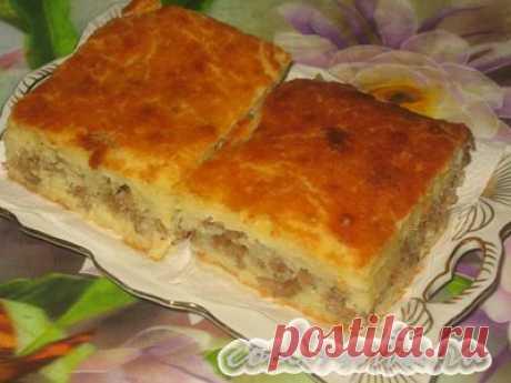 Пирог мясной на кефире - вы не сможете оторваться, настолько он вкусный!
