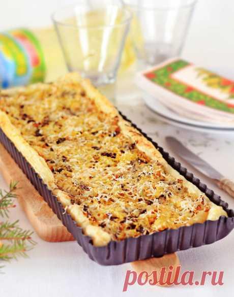 Пирог с квашеной капустой и грибами🍴