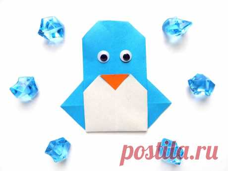 Как сделать пингвина из бумаги | Поделки с детьми | Яндекс Дзен