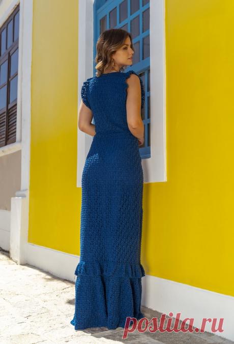 Эксклюзивное платье, связанное крючком   ВЯЗАНИЕ СПИЦАМИ И КРЮЧКОМ   Яндекс Дзен