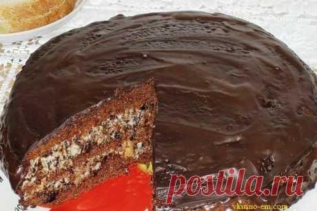 """Торт """"чернослив в шоколаде"""" Если вы любите необычные торты, то тогда этот тортик с сухофруктами для вас. Очень вкусный, сочный торт, просто сказка. Рассмотрим рецепт: Содержание статьи1 Ингредиенты для торта:2 Приготовление торта..."""