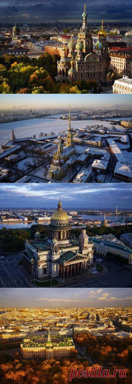 Санкт-Петербург с высоты. Фотограф Amos Chapple | В мире интересного