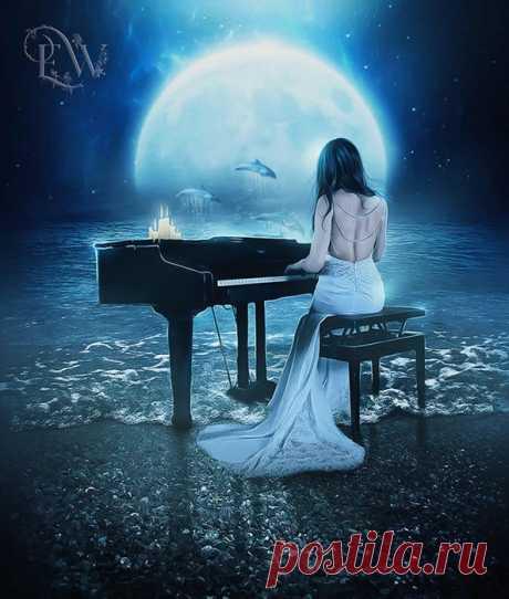 Божественно красивая «Лунная соната» Бетховена в бесподобном исполнении.