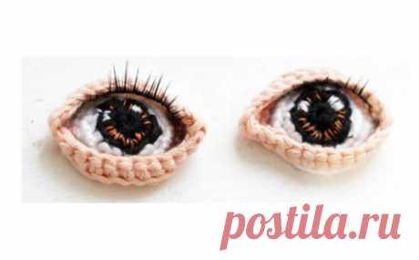 Вязаные глазки - кукольным мастерам на заметку из категории Интересные идеи – Вязаные идеи, идеи для вязания