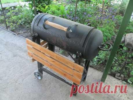 Самый простой и удобный самодельный мангал - из газового баллона | Блог самостройщика | Яндекс Дзен