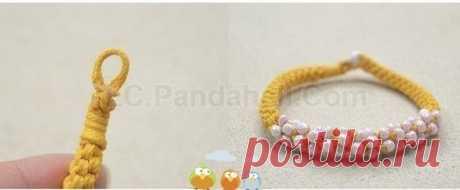 Wattled bracelet from beads, the hands. \/ diyideas.ru