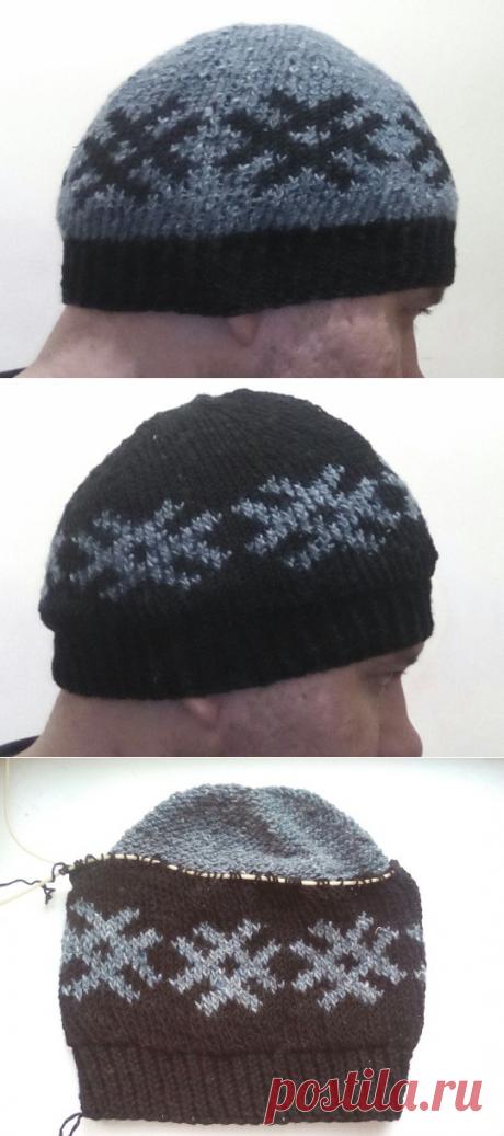 Мужская двусторонняя шапка с орнаментом 2 в 1 | Что на голову?