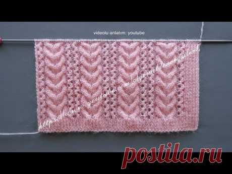 Ajurlu gönül burgusu örgü modeli bayan yelekleri örneği (Lace knitting pattern)
