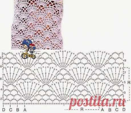 Узоры для вязания платья крючком