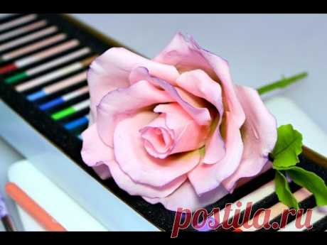 Изготовление розы из цветочной сахарной пасты.