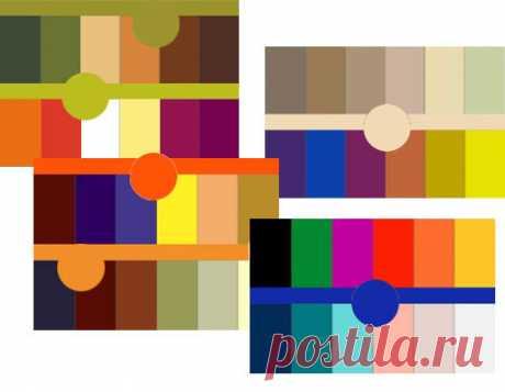 Сочетание цвета в одежде   Таблица сочетания цвета