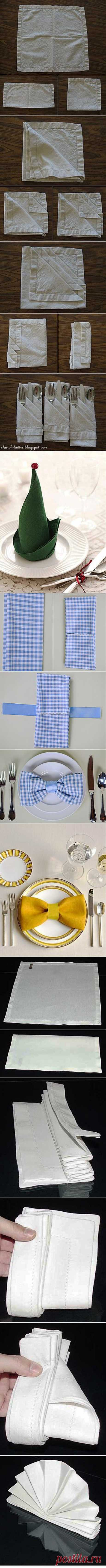 22 ways to put a napkin for a holiday table.