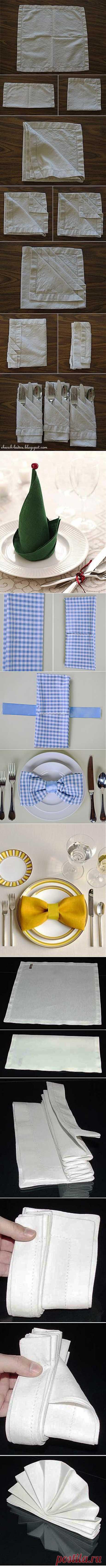 22 способа сложить салфетку для праздничного стола.