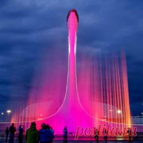 Олимпийский парк Сочи - поющие фонтаны, расписание 2019