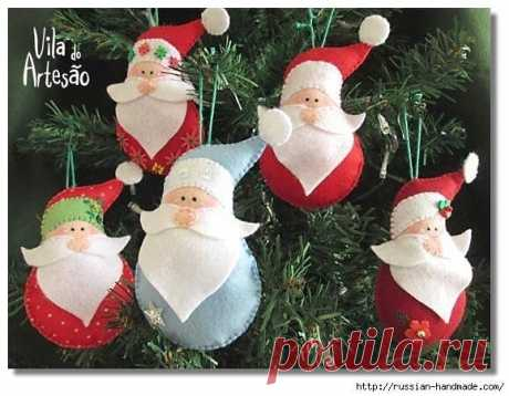 Санта из фетра :)