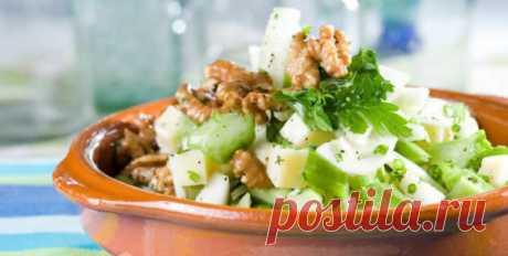 Салат с сельдереем стеблевым: легкие и простые рецепты