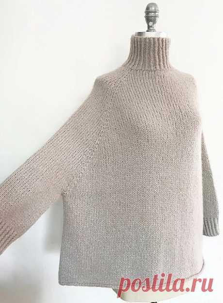 СВИТЕР TURTLE DOVE ОТ ESPACE TRICOT  Стильная модель свободного женского свитера, связанного из смесовой пряжи.