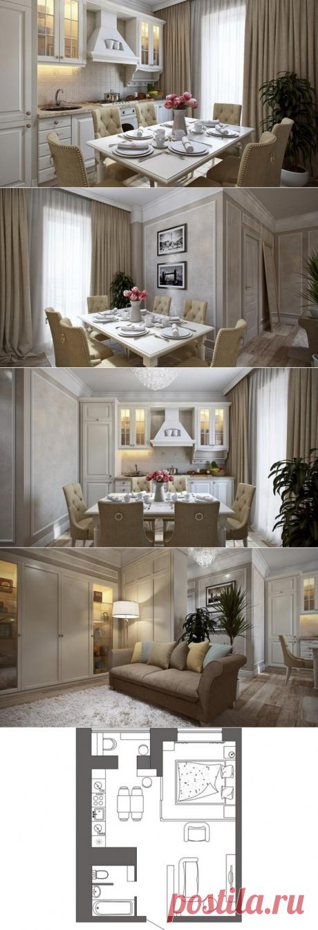 Дизайн интерьера квартиры 32м2 - Дизайн интерьеров   Идеи вашего дома   Lodgers