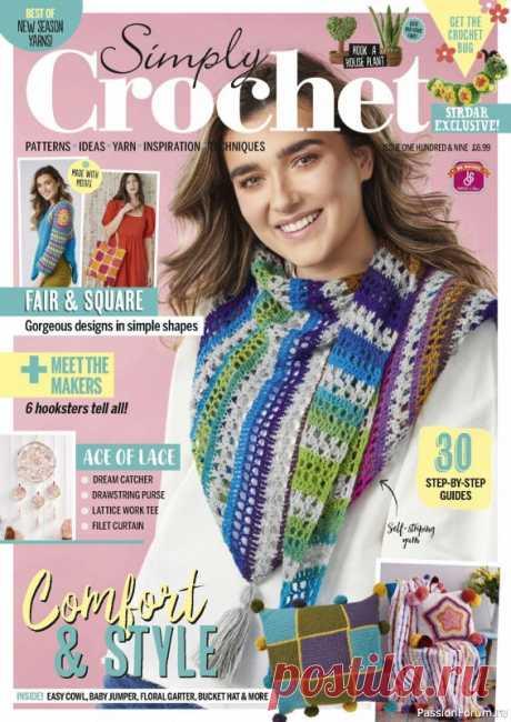 Схемы и идеи в журнале Simply Crochet №109 2021 | Женская одежда крючком. Схемы и описание