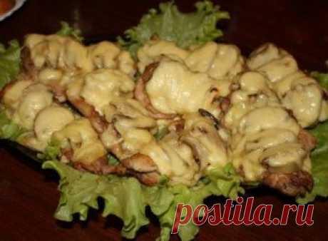Рецепт курицы с ананасами и грибами под сыром на Вкусном Блоге