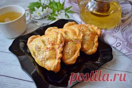 Слоеные пирожки с фаршем в духовке рецепт с фото пошагово - 1000.menu