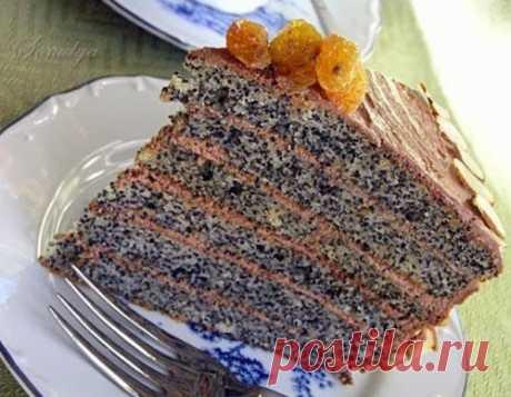 Торт «Маковая росинка». Очень вкусный и эффектный торт, который очень легко приготовить в домашних условиях.