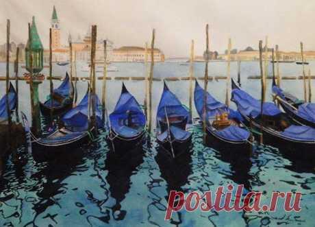 Урок рисования: Венеция — DIYIdeas