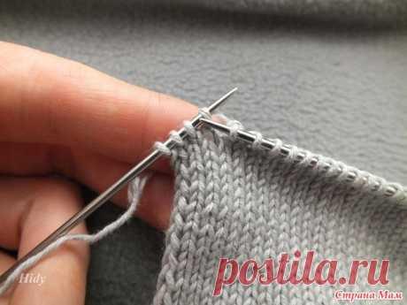 Пройма частичным вязанием + маленькая хитрость. - Помощь в вязании - Страна Мам