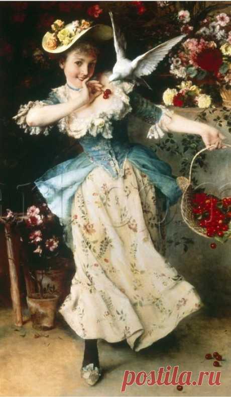 Итальянский художник Francesco Vinea (1845-1902)