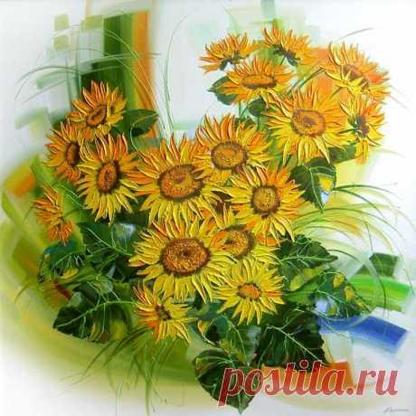 Цветочный рай художницы Людмилы Скрипченко