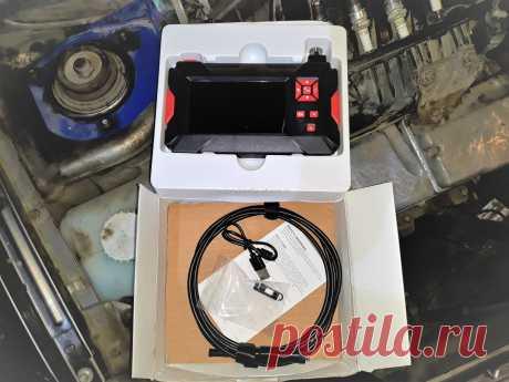 Видеоэндоскопия двигателя при помощи эндоскопа с двумя камерами.