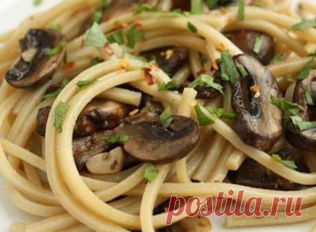 4 вскусных рецепта спагетти с грибами