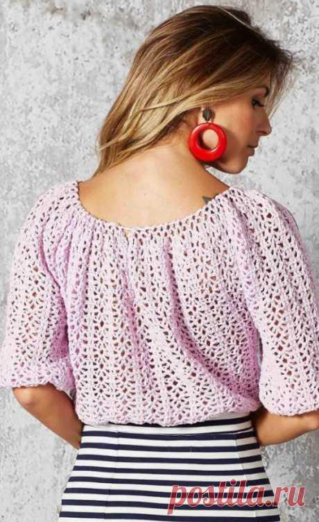 Красивая блузка крючком