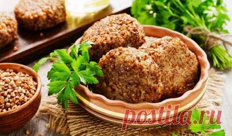 Гречневые котлеты с картошкой и луком