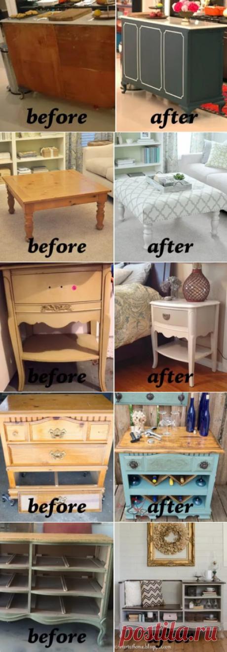 14 лучших идей переделки старой мебели своими руками