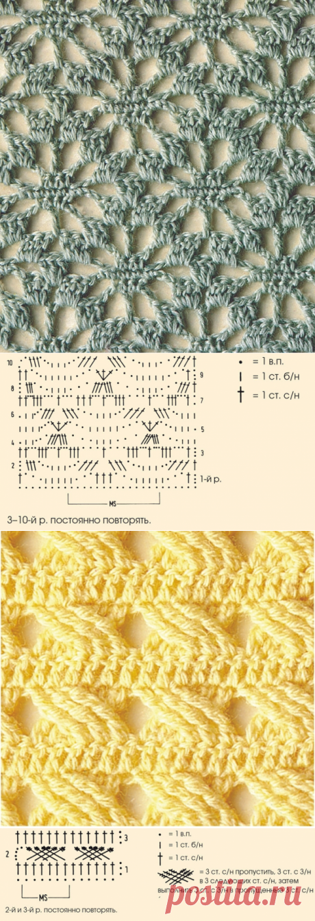 Узоры для вязания крючком