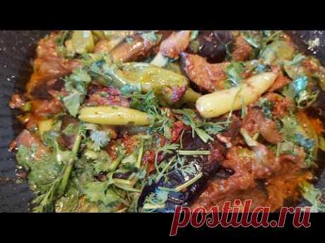 Корейская вкусняшка.Первые баклажаны и перец с огорода.Приготовлены в соевой пасте.