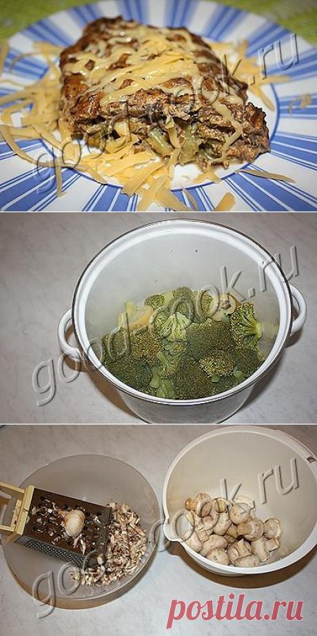Хорошая кухня - брокколи в сливочно-грибном соусе. Кулинарная книга рецептов. Салаты, выпечка.