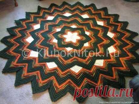 Оригинальный коврик | Вязание крючком | Вязание спицами и крючком. Схемы вязания.