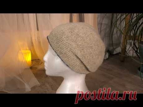 Double side seamless beanie from Soft Donegal Tweed |Fashion hat|